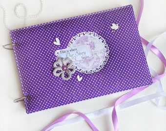 Wedding Photo Album, Wedding Scrapbook, Wedding scrapbook Album, Wedding memory book, Wedding photo frame, Personalized Wedding gift
