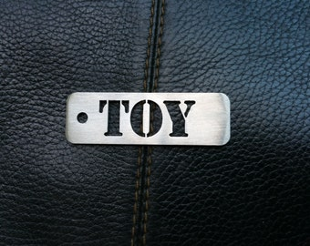 """BDSM """"Toy"""" Stainless Steel Keyring"""