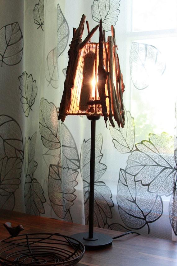 Vilnius driftwood table lamp handmade organic driftwood warm - Unique handmade lamps ...