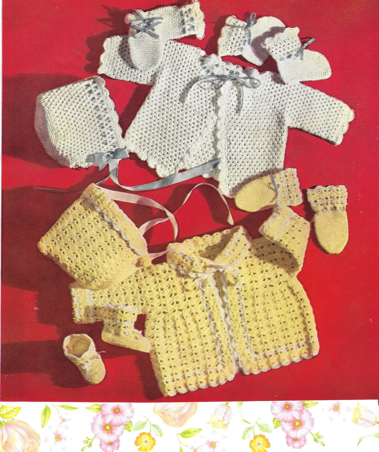 Crochet Baby Set Patterns Two Vintage Baby Set Patterns