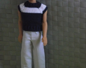 Ken dolls hand knitted shirt and Pants