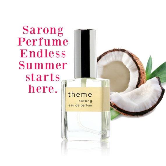 Vanilla perfume, Sarong, vanilla coconut, perfume oil, perfume spray, beach, suntan, summer, Hawaiian, floral, Theme Fragrance, gift