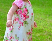 Toddler Girls Peasant Dress Made to Order in Size 6 mos to 6 years girls sizes