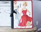 Retro Girl Journal, Vintage Collage Art, Bridesmaid Gift Valentine's Day