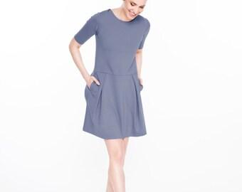 Pleated dress | Sky blue dress | Pastel dress | LeMuse pleated dress