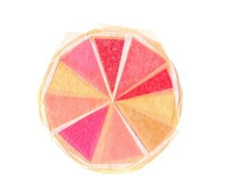 Pink Grapefruit - Fruit Art Print