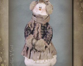 "Pattern: Snowbelle - 30"" Snow Lady"