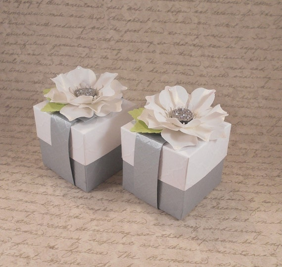 Boxes For Baby Shower Favors: 12 Gift Boxes, Custom Wedding Bonbonniere, Jewelry Box