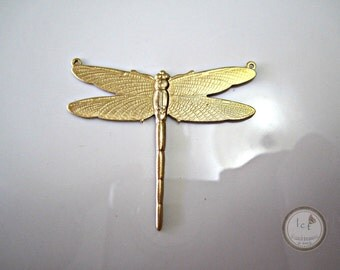 Raw Brass Stamped Dragonfly Brass Dragonflies Stamped Brass Dragonfly Stamping Dragonflies Jewelry Supplies 50x38mm (1 pc) 17V7