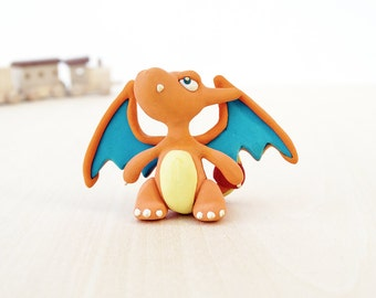 Charizard Handmade Polymer Clay Figurine Pokemon