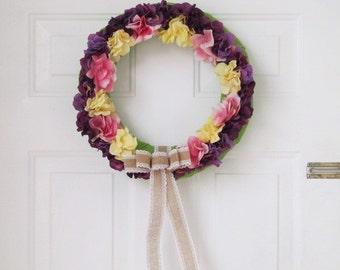 Hydrangea Floret Wreath