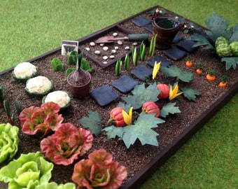 Garden vegetable garden vegetables miniature Dollhouse scale 1:12