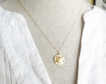 Sand Dollar Necklace - Gold Sand Dollar Necklace - Layering Necklace - Beach jewelry - Sand Dollar Jewelry - Gold Disc - Summer Jewelry