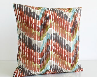 Accent Pillow Cover, Pillow Cover, Cotton Pillow Cover, Pillow Sham, Cushion Cover, Throw Pillow Cover, Pillow Covers - Optic Spice