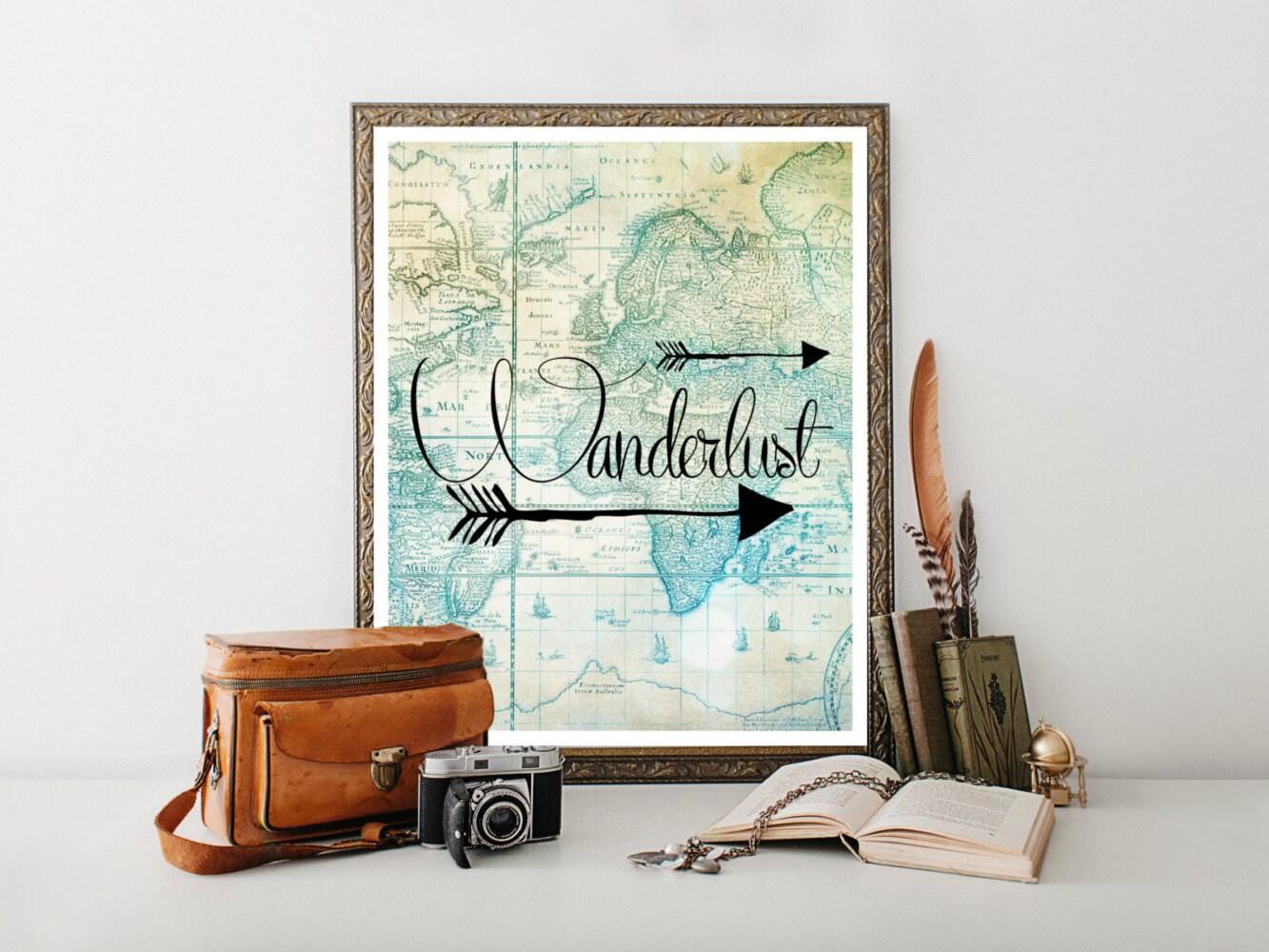 Wanderlust Travel Poster Travel Printabletravel Quote