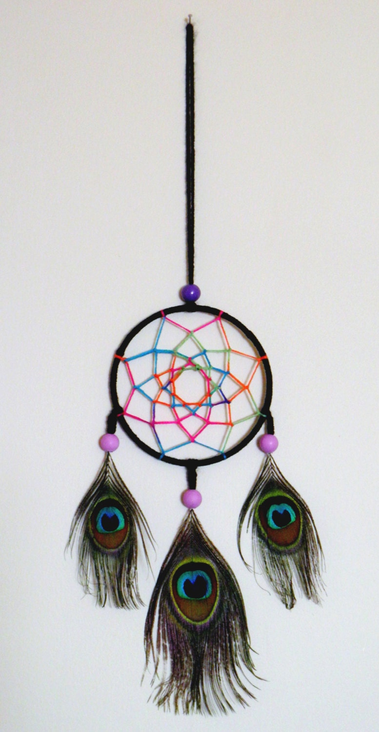 petit attrape r ve dreamcatcher multicolore. Black Bedroom Furniture Sets. Home Design Ideas