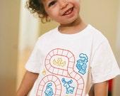 2T, Kids Train Shirt, Train Birthday Shirt, Toddler Boy Shirt, Baby Christmas Gift, Train Tracks Shirt, Play Mat Shirt, Play Shirt