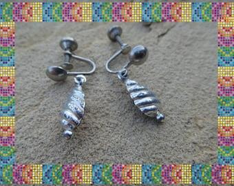 Beautiful Vintage Screw BackDangle Earrings