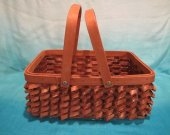 Handled Basket with Curlycue Detailing
