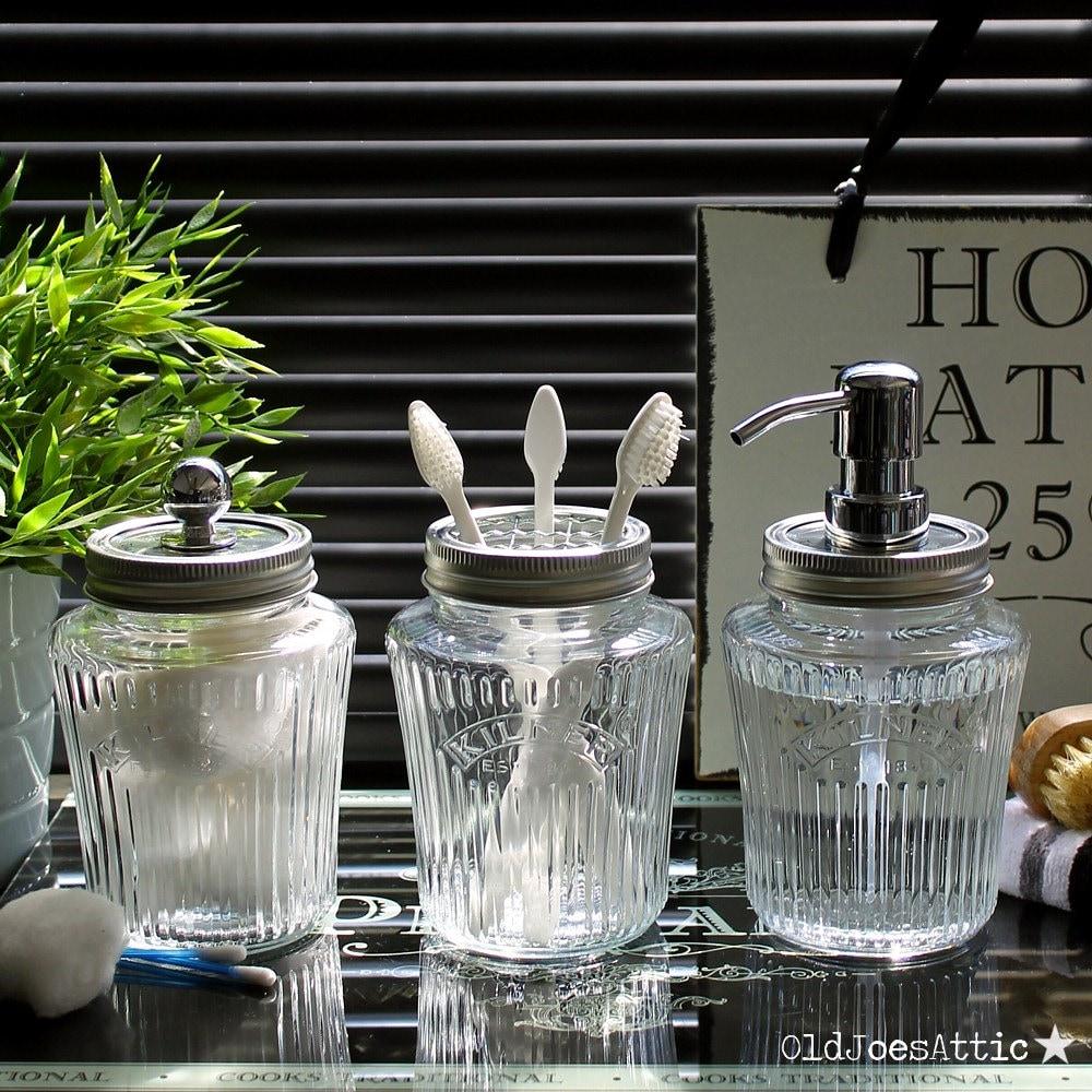 Bathroom Accessories Jars Of Kilner Vintage Preserve Jar Bathroom Accessory Set In Clear