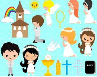 123 PNG Files- First Communion ClipArt -Digital Clip Art Graphics for Personal/Commercial Use(015)