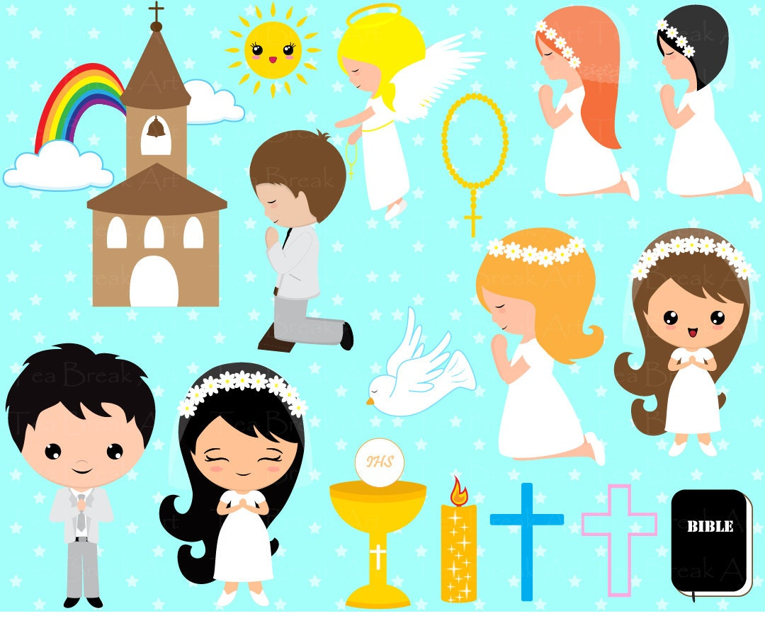 123 PNG Files First Communion ClipArt Digital Clip Art