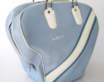 AMF Light Blue with White Bowling Bag