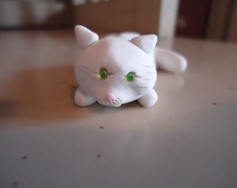 White Cat Figurine