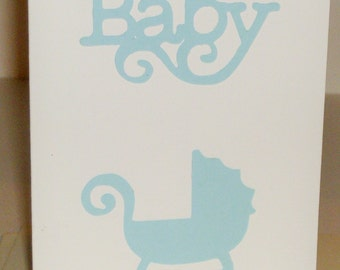 Thank You Baby Cards - Blue/White, Thank You Cards, Baby Cards, Newborn, Congratulation, Greeting Cards, Welcome, Baby Boy Cards