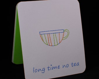 Long Time No Tea - Blue/Green