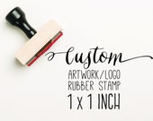 CUSTOM 1x1 inch Stamp, Custom Logo Stamp, Logo Stamp, Custom Artwork Stamp, Stamp Logo, Company Stamp, Business Stamp, Business Card Stamp