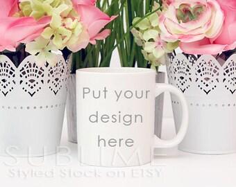 Mock Up / Mug Mock Up / Blank Mug / Coffee Cup / Product Mock up / Styled Stock Photography / JPEG Digital Image / StockStyle-471