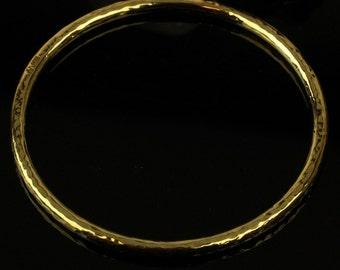 "LJ Jewellery -  10 Karat gold Vermeil Bangle - 65mm (2.5"")"