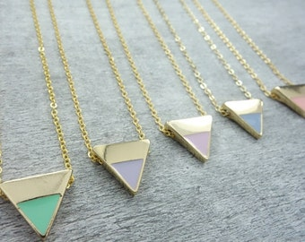 Geometric Pastel Necklace gold