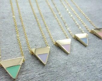 Geometric Pastel Necklace