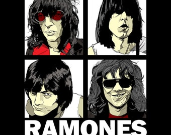Ramones Band Poster Art Print