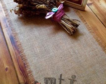 5ft Handmade Rustic Hessian Table Runner