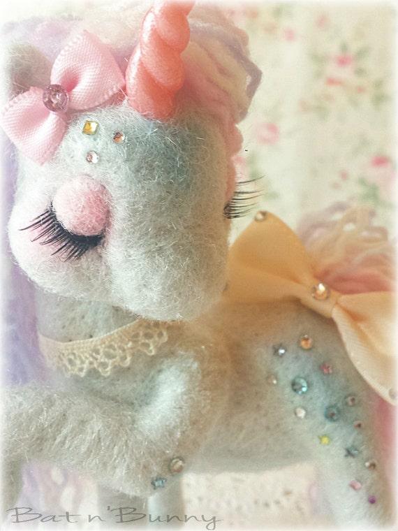 Handmade - Needle felt Fairy unicorn - SodaSparkles