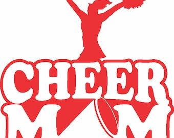 Cheer Mom Vinyl Decal