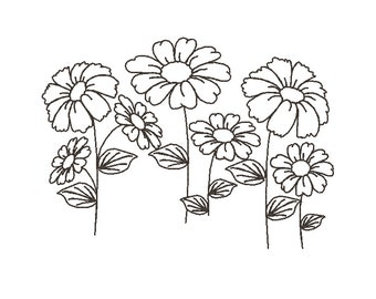 Outline Flowers