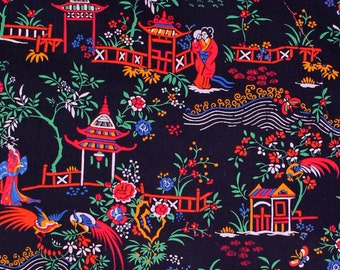 """Liberty of London Tana Lawn 2015 Autumn/Winter Art Collection PEONY PAVILION A - sold by XL Fat Quarter (19.75"""" x 26.75"""") or by 1/4 Metre"""