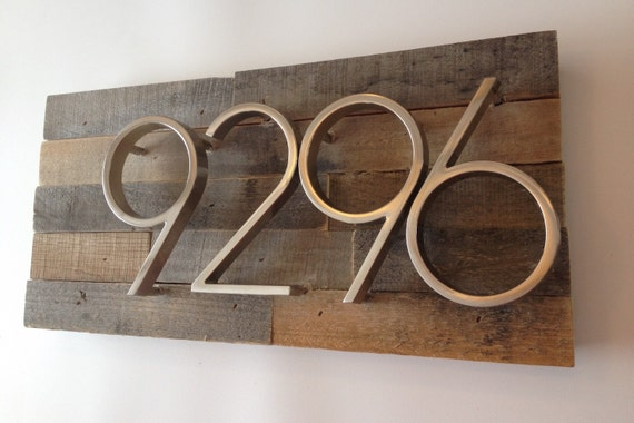 Rustic Address Plaque Made From Reclaimed Wood Rustic