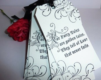 25 Handmade vintage Fairytale Wedding favour Wishing Tree gift tags white
