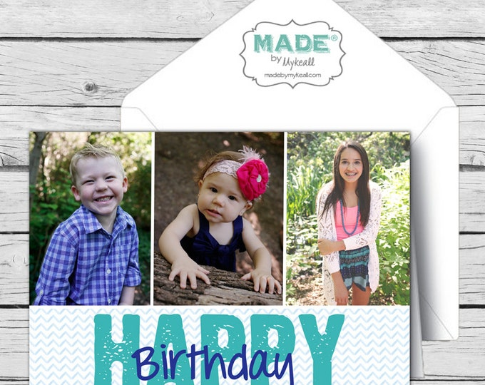 Personalized HAPPY BIRTHDAY Photo CARD, Birthday, Digital Cards, Stationery, diy