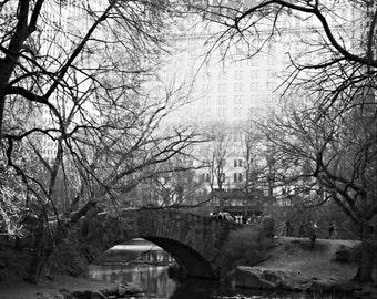 New York print, New York decor, New York photo, Central Park print, Central Park photo, Black & White print, Wall Art, Home Decor,bridge art