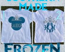 Frozen Disney Monogrammed Shirt Disney Frozen Kids Adult t shirt