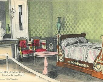 Interior, Versailles Palais du Grand Trianon, Chambre de Napoleon I, circa 1919 Unused French Postcard