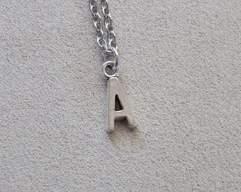 Necklace, YOUR CHOICE of Letter, Initial, Name, Charm Pendant