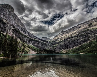 GRINNELL LAKE GLACIER national park montana wilderness water