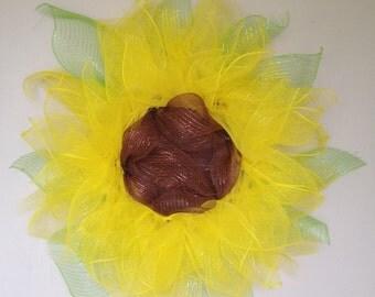 Sunflower Deco Mesh Wreath - Summer